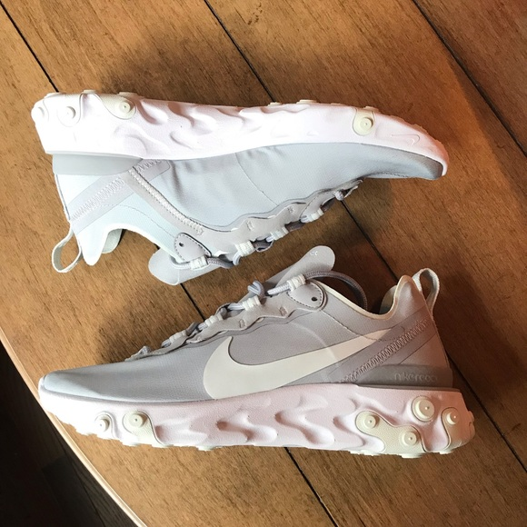 Nike Shoes - Nike React Element 55 Wolf Grey Sneakers